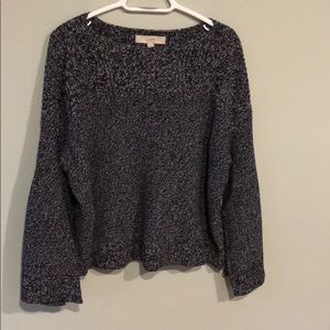 Ann Taylor LOFT Navy Heathered Sweater Size Large